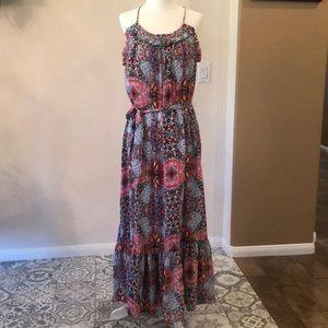 Gap halter printed maxi dress